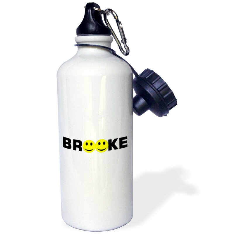 3drose Print Of With Smiley Face 21 Oz Stainless Steel Water Bottle Wayfair