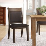 Saulsberry Upholstered Solid Wood Side Chair in Rustic Brown (Set of 2) by Millwood Pines