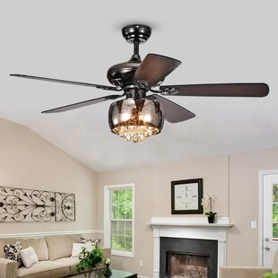 Chandelier ceiling fan combo wayfair 52 lakey 5 blade ceiling fan with remote mozeypictures Choice Image