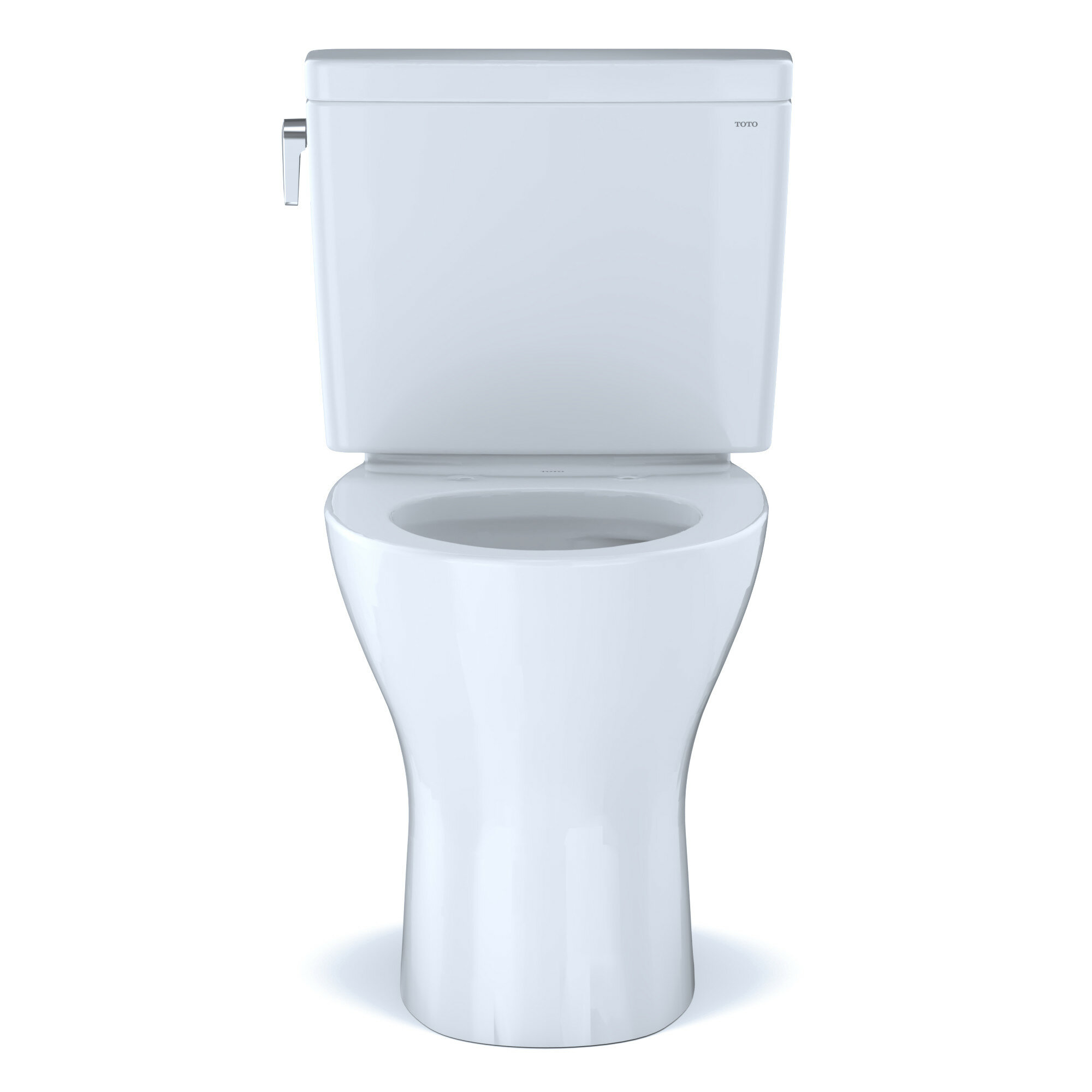 Toto Drake Two Piece Elongated Dual Flush 1 6 And 0 8 Gpf Universal Height Dynamax Tornado Flush Toilet For 10 Inch Rough In With Cefiontet With Wax Ring And Toilet Mounting Bolts Seat Not Included