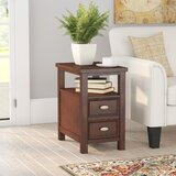 Darius Solid Wood End Table with Storage