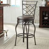Adjustable Height Swivel Bar Stool by Pulaski Furniture
