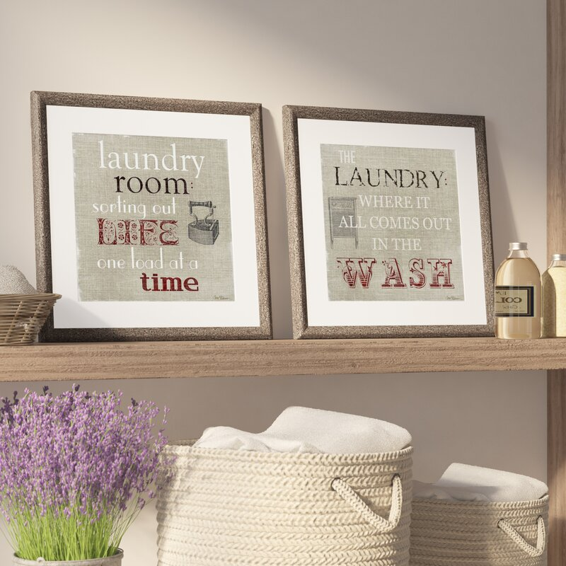 'Laundry Room' 2 Piece Framed Textual Art Set