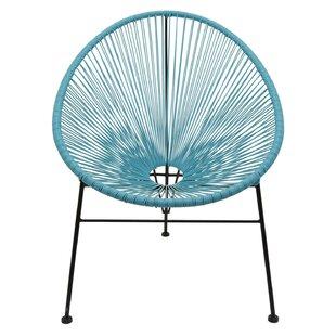 Gatlin Metal and Plastic Papasan Chair by Ivy Bronx