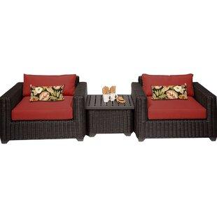 Fairfield 3 Piece Conversation Set with Cushions