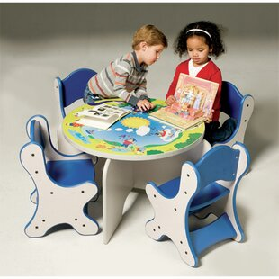 Order Harmony Park Kids 5 Piece Table and Chair Set ByPlayscapes