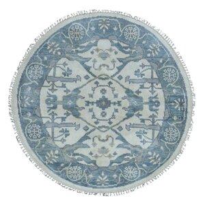 Fairfield Oushak Hand-Woven Wool Blue Area Rug
