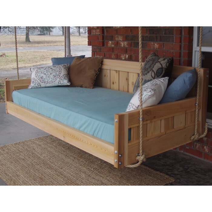 Conyers Hanging Daybed Rope Porch Swing