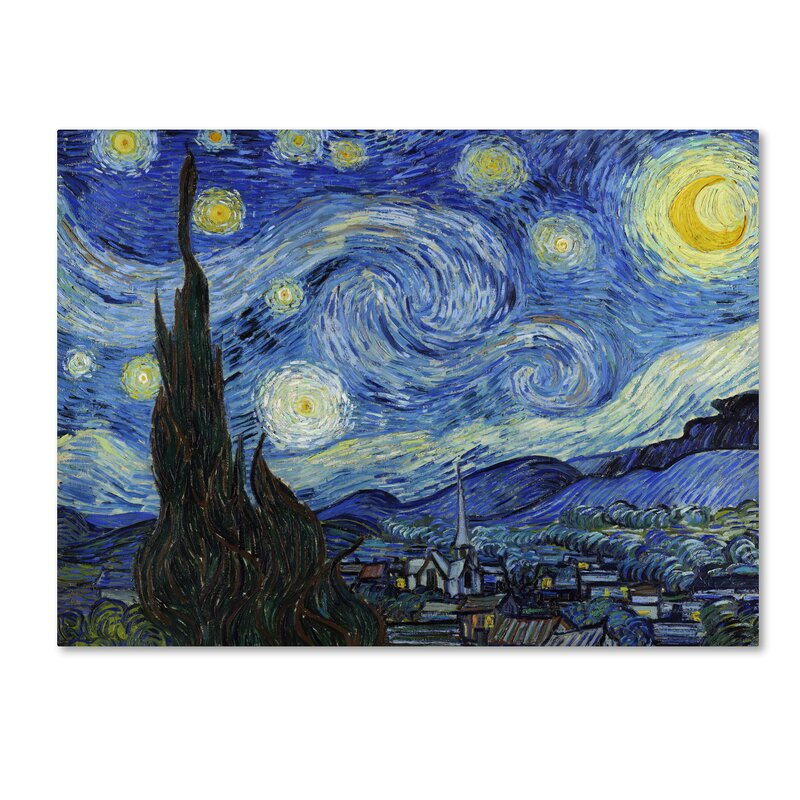 Starry Night Print on Canvas