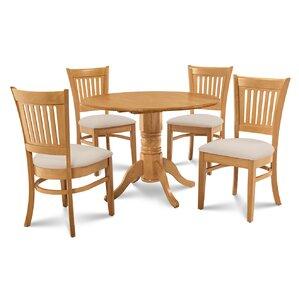 Chesterton Transitional 5 Piece Oak Dining Set by Alcott Hill