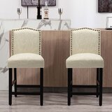 Winstead Upholstered 24 Short Stool (Set of 2) by Ophelia & Co.