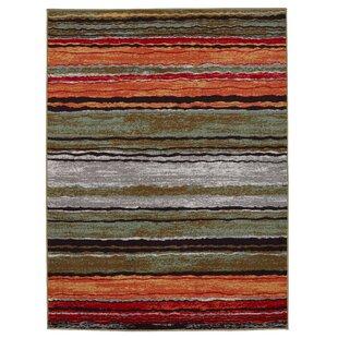 Great Price Anne Stripe Orange/Red Area Rug ByDiagona Designs