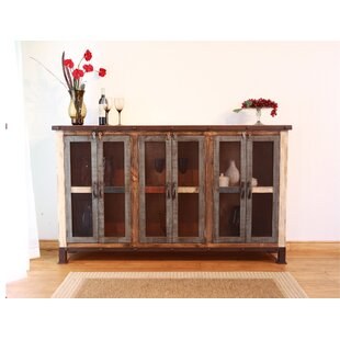 Straley 6 Iron Mesh Door Panel Sideboard with Middle Shelves Millwood Pines