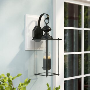 Amberley 2-Light Outdoor Wall lantern By Three Posts Outdoor Lighting