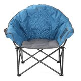 Cozy Club Folding Camping Chair with Cushion