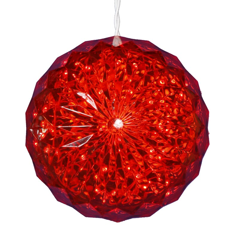 Vickerman Lighted Hanging Crystal Sphere Ball Outdoor Christmas Decoration | Wayfair