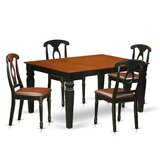 Belding 5 Piece Butterfly Leaf Solid Wood Dining Set by Darby Home Co