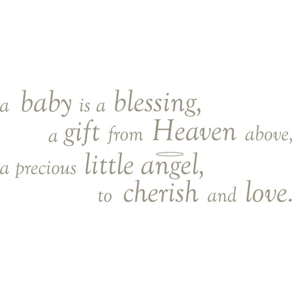 Wallpops Baby Is A Blessing Wishes Wall Decal Reviews Wayfairca