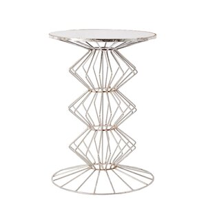 Drakes Iron Wire End Table by Wade Logan