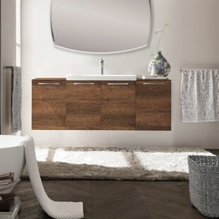 Mirando 55 Wall-Mounted Single Bathroom Vanity Set by Orren Ellis