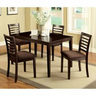 Tilton 5 Piece Solid Wood Dining Set Winston Porter