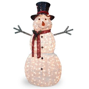 crystal snowman christmas decoration