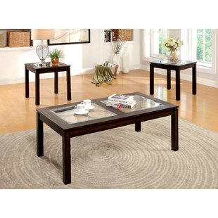 Alosio 3 Piece Coffee Table Set