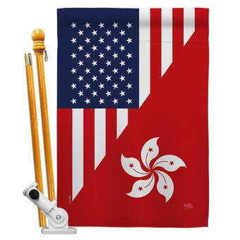 Breeze Decor American Korea Friendship Impressions Decorative 2 Sided 40 X 40 In Polyester Flag Set Wayfair