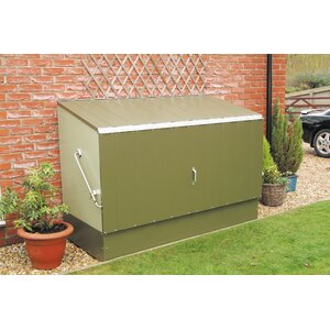 6 ft. 5 in. W x 2 ft. 11 in. D Metal Horizontal Bike Shed