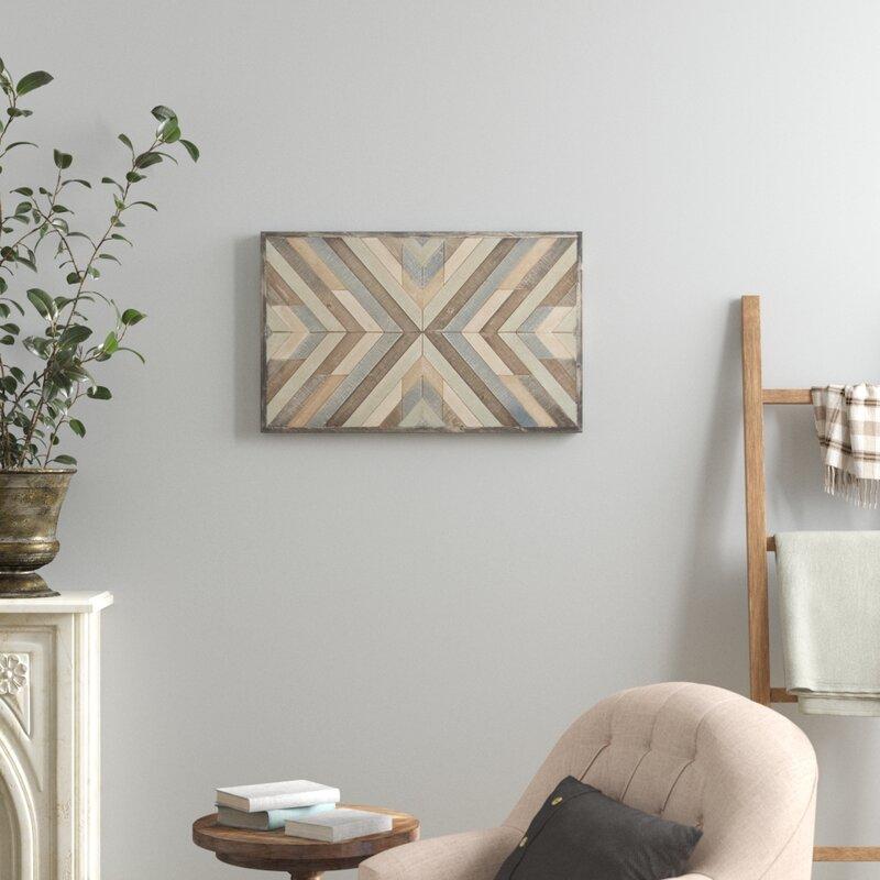 Birch Lane Chevron Picture Frame Graphic Art Print On Wood Reviews Wayfair