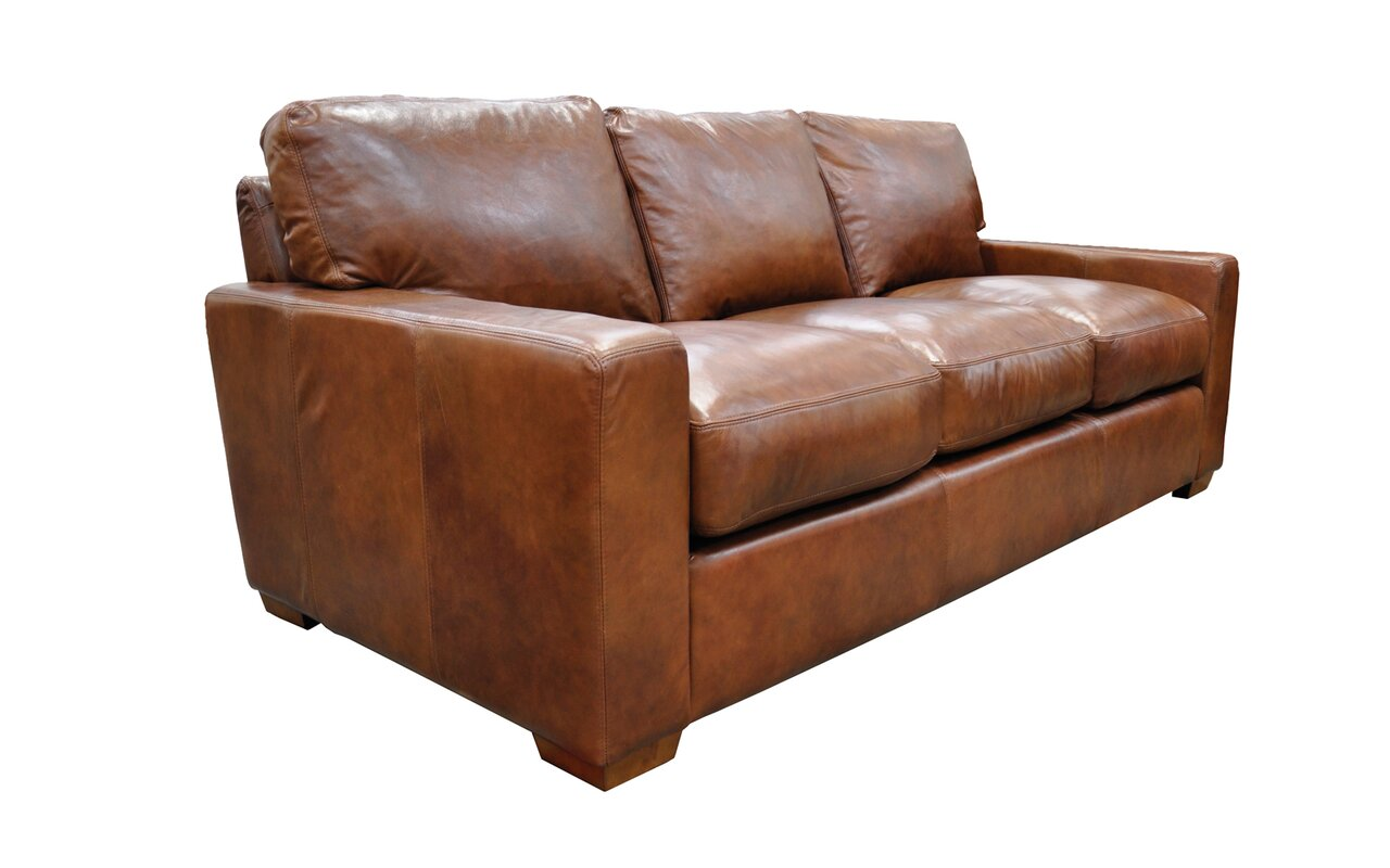 Omnia Leather City Craft Leather Sofa Reviews Wayfair ~ Pictures Of Leather Sofa