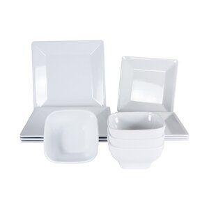 Merilyn Melamine 12 Piece Dinnerware Set, Service for 4