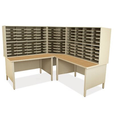 100 Compartment Mailroom Organizer Marvel Office Furniture Finish Putty