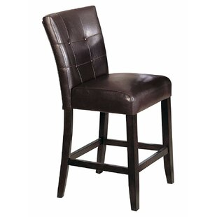 Set Of 2 Counter Height Chair 24Inch Height Brown Set of 2 by Winston Porter