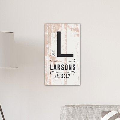 Personalized monogram farmhouse textual art on canvas