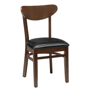 Amoroso Traditional Beechwood Moon Shape Back Seat Upholstered Dining Chair Red Barrel Studio