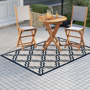 Best Kinney Reversible Blue/Gray Indoor/Outdoor Area Rug By Charlton Home