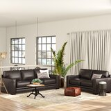 Neil Solid Leather 2 Piece Living Room Set by Trent Austin Design®