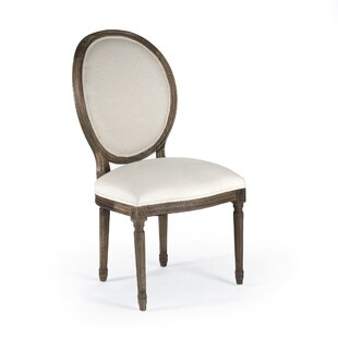 Arvidson Side Chair in Linen - White One Allium Way