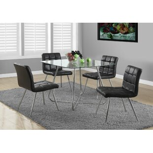 Amber 5 Piece Dining Set by Latitude Run Spacial Pricet