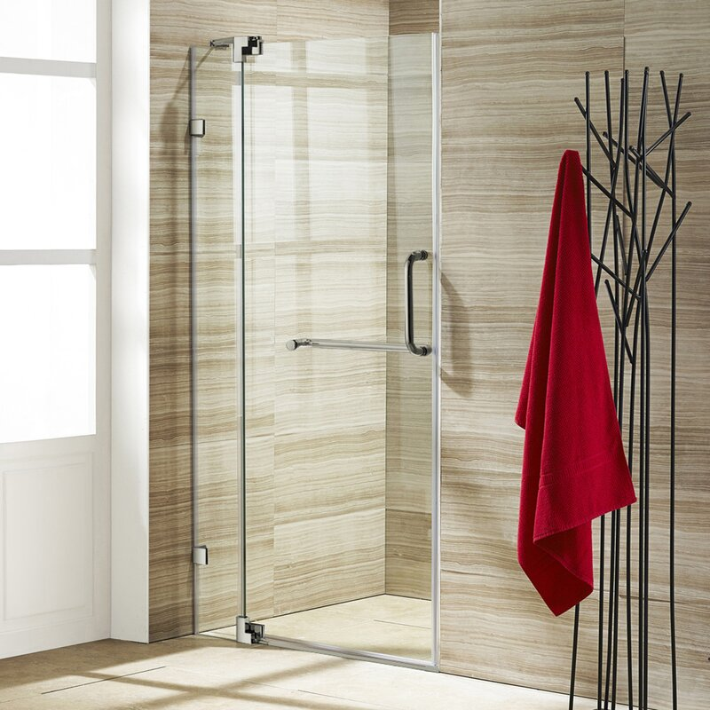 Vigo Pirouette 42 X 72 Pivot Frameless Shower Door Reviews Wayfair