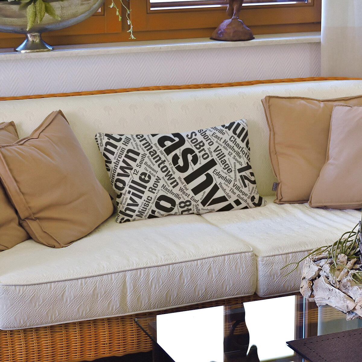 East Urban Home Tennessee Districts Word Art Leather Lumbar Pillow Cover Wayfair