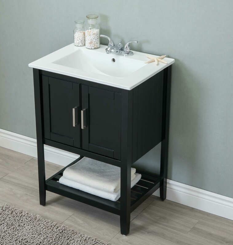 """andover mills reynal 24"""" single bathroom vanity set & reviews"""