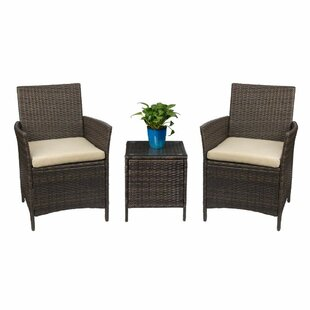 Dirk 3 Piece Patio Rattan Conversation Set