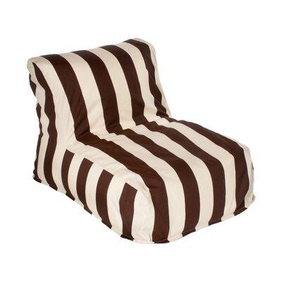 Beachcrest Home Merrill Bean Bag Lounger Upholstery: Brown/Off-White