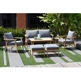 Darrah 7 Piece Teak Sofa Seating Group with Cushions
