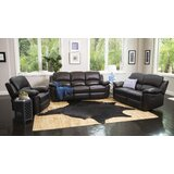 Veazey 3 Piece Leather Reclining Living Room Set by Darby Home Co
