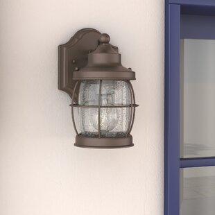 Online Reviews Treasa 1-Light Outdoor Wall Lantern By Beachcrest Home