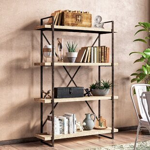 Hardwick Metal Wood Bookcase by Trent Austin Design