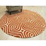 Corrigan Hand-Tufted Wool Orange Area Rug
